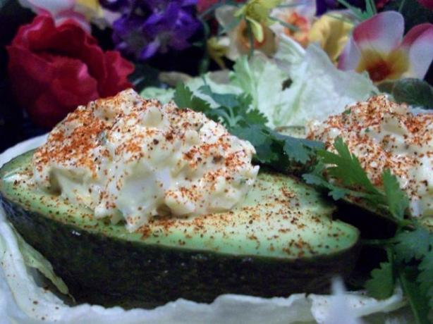Deviled Egg Stuffed Avocados!