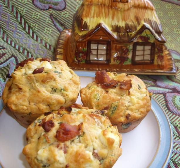Bacon, Spinach and Feta Muffin Loaf
