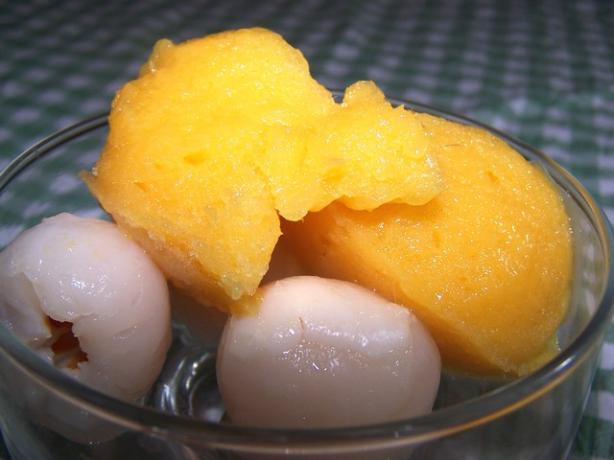 Mango and Lime Sorbet