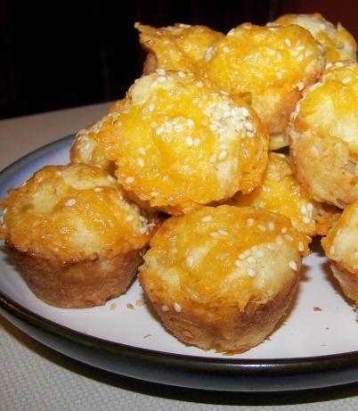 Sesame-Cheddar Mini Muffins