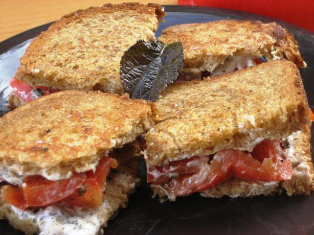 No-Press Panini With Mozzarella, Roasted Red Pepper and Basil