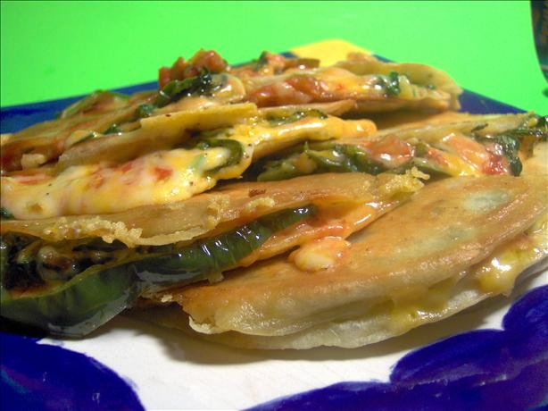 Green Chili and Monterey Jack Quesadillas