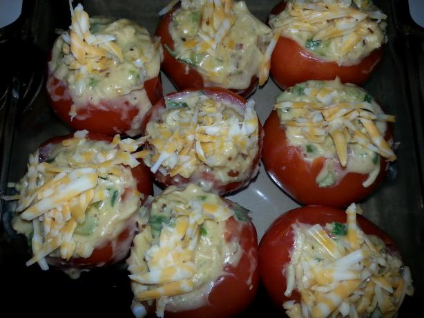 Baked Chicken-Stuffed Tomatoes