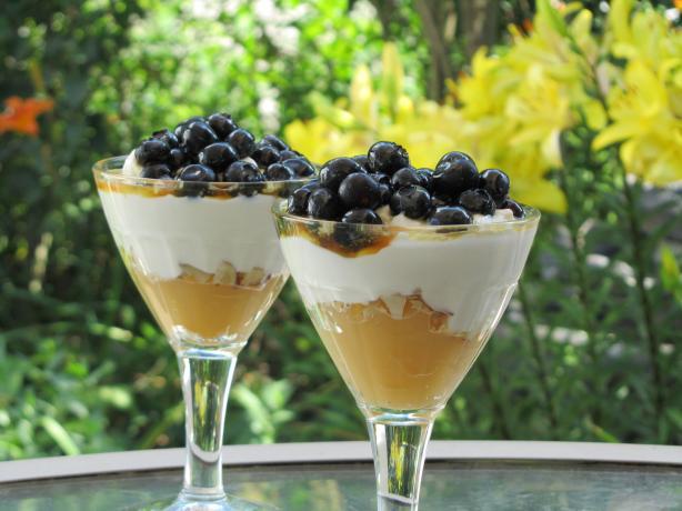 Lemon and Blueberry Yogurt Parfait (Low Fat)