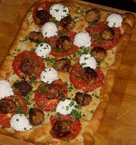 Chicken Meatball Pizza