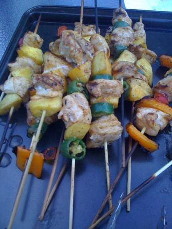 Chicken Mango Kabobs