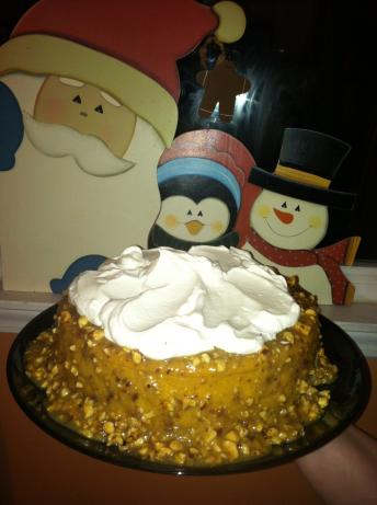 Pumpkin Hazelnut Cheesecake With Whiskey Sauce