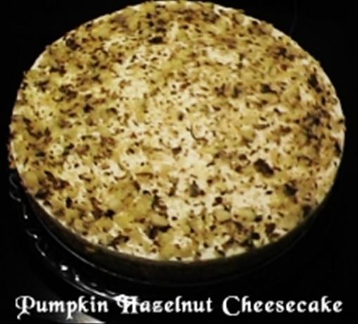 Pumpkin Hazelnut Cheesecake