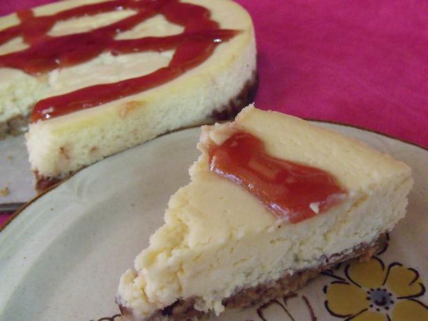Vanilla Baked Cheesecake With Hazelnut and Cinnamon Crust