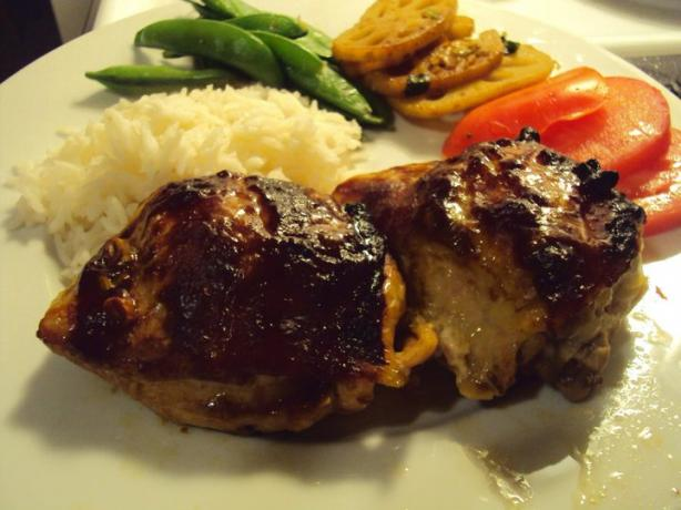 Hoisin Glazed Chicken Thighs