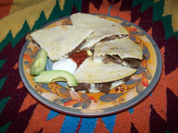 Beef Pepper Jack Quesadillas