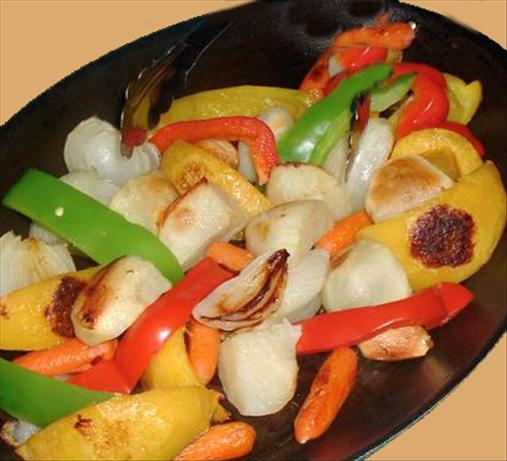 Oven Roasted Vegetables with Rosemary,bay Leaves and Garlic