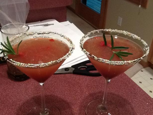 Ruth Chris's Raspberry Rosemary Martini