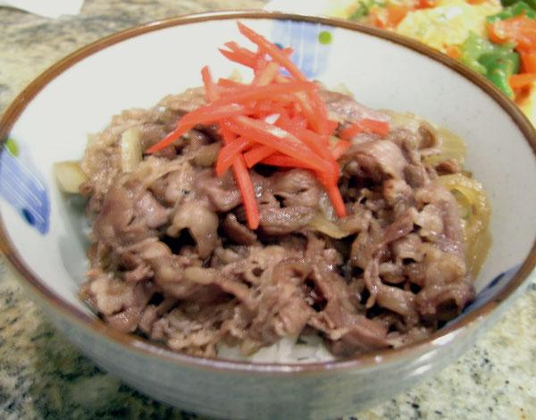 Beef Donburi California Style - Beef Bowl