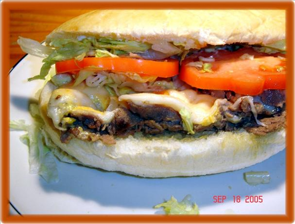 Three Cheese Steak Sandwich