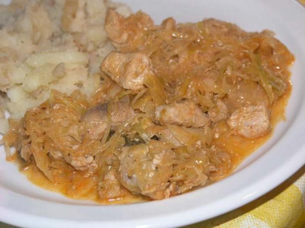 North Croatian Pork and Sauerkraut Stew (Sekeli Gulash)