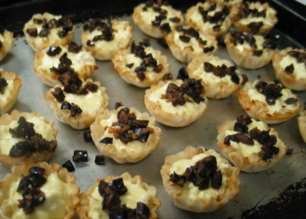 Feta Custard in Phyllo Cups