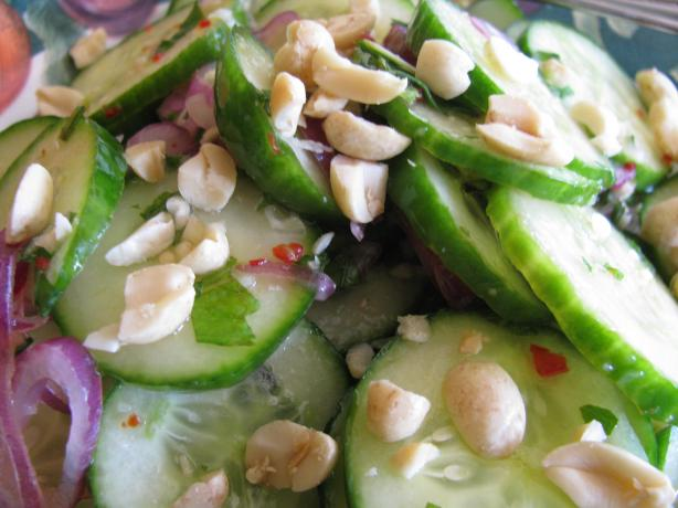 Thai Cucumber Salad With Roasted Peanuts