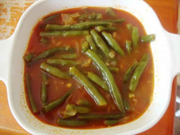 Egyptian Green Beans in Tomato Sauce
