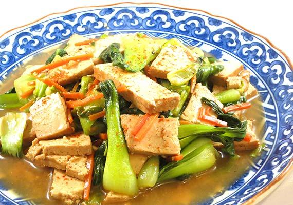 Baked Tofu and Bok Choy