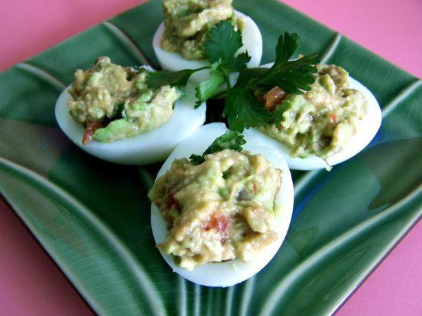 Guacamole Stuffed Deviled Eggs