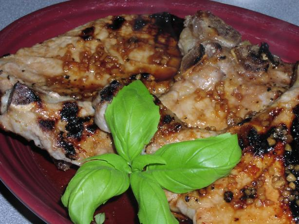 Ginger-Honey Glazed Barbecued Pork Chops