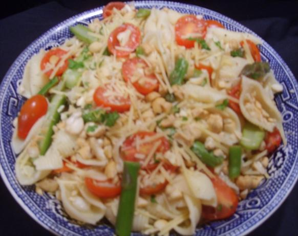 Pasta, Asparagus & Marinated Tomato Salad