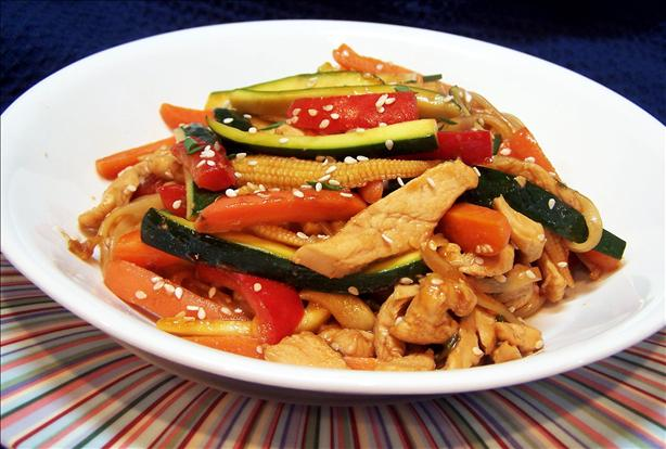 Chicken Sesame Noodle Stir Fry