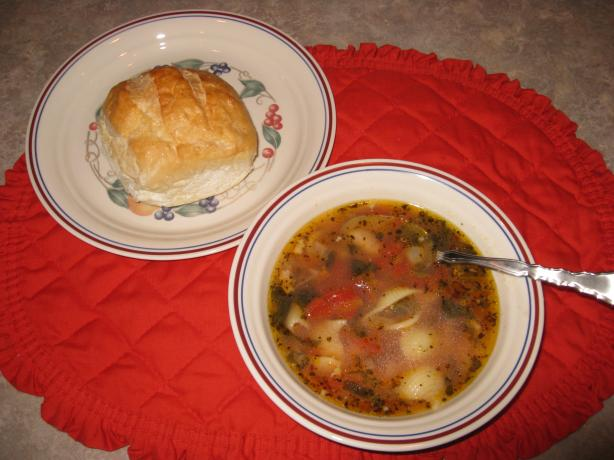 Italian Sausage Bean and Spinach Soup