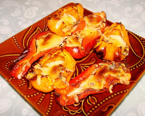 Roasted Bell Peppers and Cheese