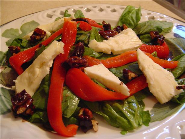 Brie and Roasted Red Pepper Salad