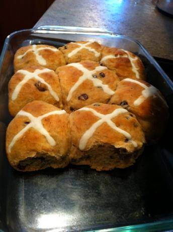 Hot Cross Buns (No Knead)