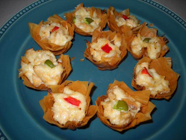 Chicken Appetizer in Phyllo Cups