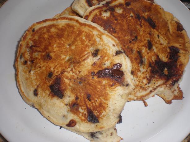 Banana Chocolate Chunk Pancakes & Waffles