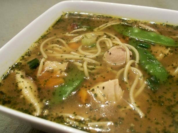 Asian Chicken and Snow Pea Noodle Bowl