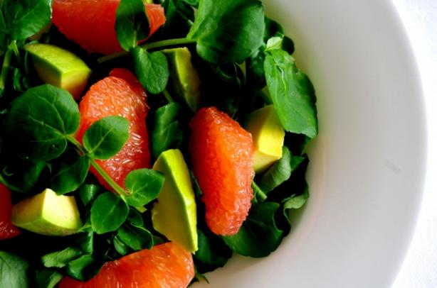 Avocado, Pink Grapefruit and Mache Salad