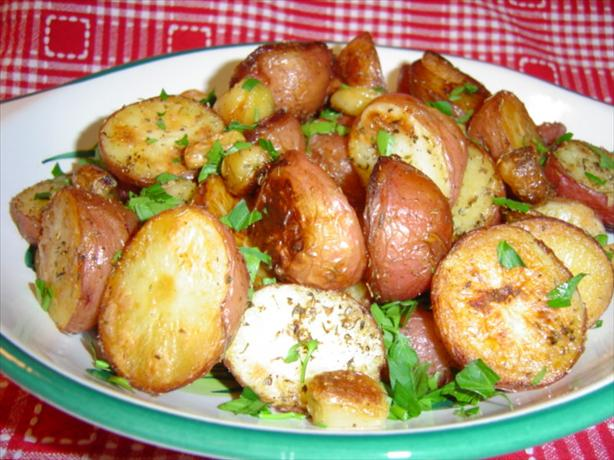 Roasted Garlic-Herb New Potatoes