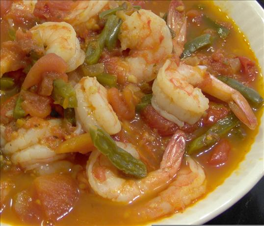 Mexican Shrimp in Green Bean Sauce