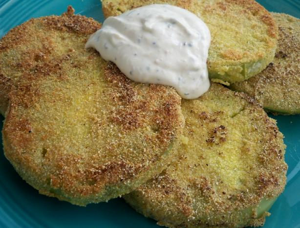 Fried Green Tomatoes With Creamy Horseradish Sauce