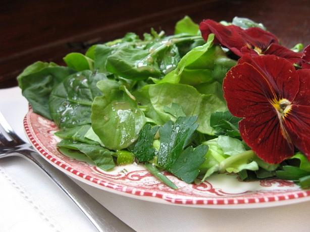 The Incredible Edible Flower Salad With Fresh Herbs