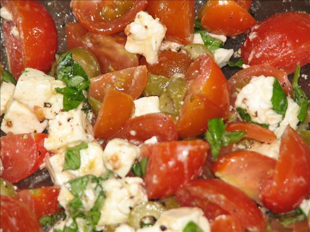 Feta, Tomato, Basil and Olive Salad