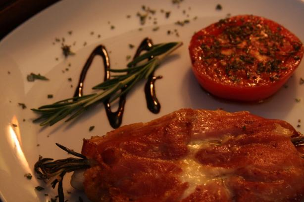 Chicken Breast With Rosemary, Fontina and Prosciuitto