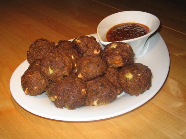 Carrot Satay Meatballs (Using Vegemite)