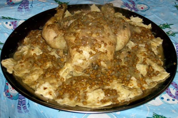 Rfissa (Moroccan Chicken With Lentils)