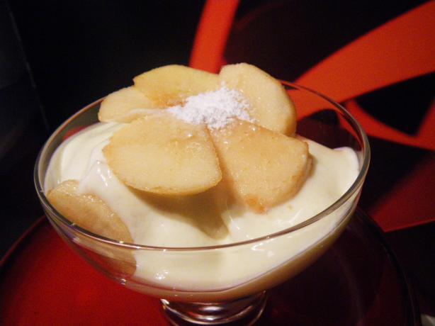 Apple-Rum Ricotta Cream Dessert