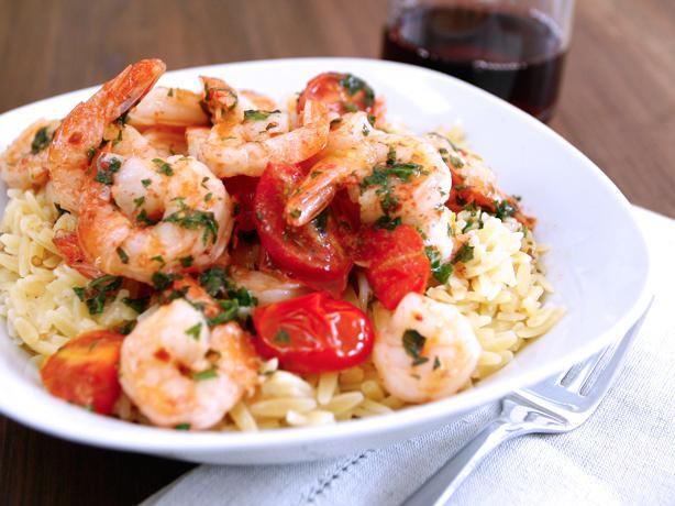 Tomato-Basil Shrimp Orzo