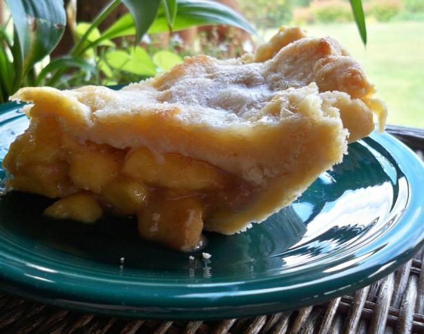 Fresh Peach Brown Sugar Pie