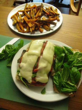 Fral's Caprese Sandwich on Grilled Ciabatta Bread