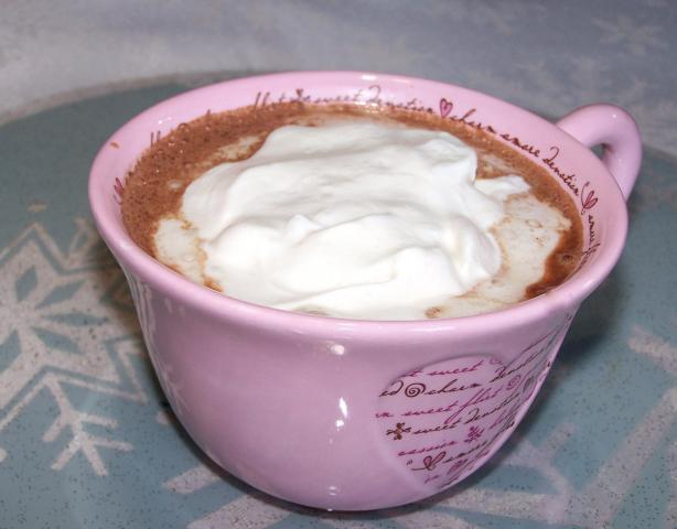Hot Orange Mocha With Grand Marnier Whipped Cream