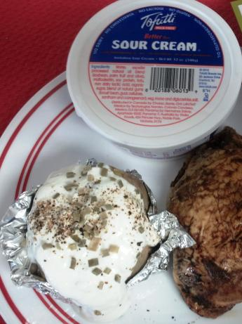 "FAST NO Dairy Baked Potatoes ""sour Cream""/Chive"